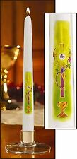 First Communion IHS Candle 10 Inches Tall SKU 71143
