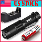 CREE XML T6 2000 Lumen Zoomable LED 18650 Flashlight Focus Torch Zoom Lamp Light