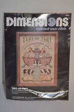 Dimensions Two by Two Noah's Ark Cross Stitch Kit New Vintage