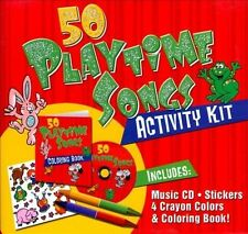 50 PlaytimeSongs CD Activity Kit (Packaged in carrying case with Stickers, Crayo