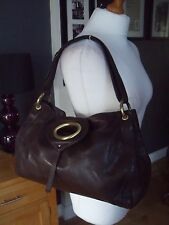 """RISK """" RI2K"""" BROWN SOFT  LEATHER TOTE BAG GREAT CONDITION"""