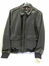 NWT Men's Dockers Jacket, Faux Leather Aviator Style Dark Brown, Retro, Size S