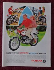 1966 Print Ad Yamaha Big Bear Scrambler 250 ~ Discover the Swinging World ART