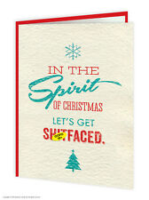 Brainbox Candy Rude Christmas Xmas Card 'Sh*tfaced' funny cheeky humour joke