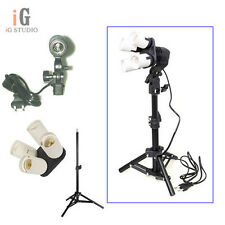 Photo Studio kit 4in1 E27 Socket + Single Lamp Bulb Holder + 42cm light stand