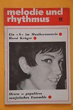 Zeitschrift Melodie und Rhythmus Heft 11 - 1967