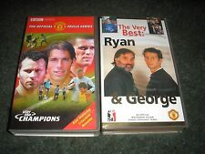 LOT 2 VHS PAL VIDEOS MANCHESTER UNITED-RYAN & GEORGE & PLAY LIKE CHAMPIONS