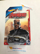 Ultra Rage * Nick Fury * Avengers Marvel * 2015 Hot Wheels * Walmart Only * E22