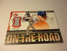 IVAN PUDGE RODRIGUEZ TEXAS 2002 FLEER ULTRA ON THE ROAD GAME USED JERSEY CARD