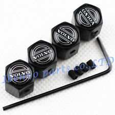 Anti-theft Black Metal Car Wheel Tyre Tire Stem Air Valve Cap For Volvo Vehicles
