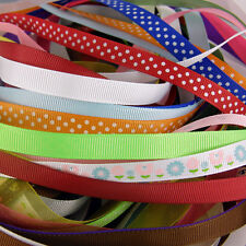 25 x 1 metre lengths  of Assorted Colours & Widths Mixed Ribbon Off Cuts Bundle