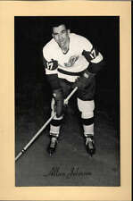 1944-63 BEEHIVE GROUP 2 PHOTOS   ALLAN JOHNSON DETROIT RED WINGS EX-MT F2515