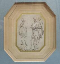 Attributed to Giulio Campi Two Studies of a Man, One Leaning on a Stick Lot 83