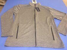 Men's Devon & Jones Full- Zip Jacket Gray L NWT