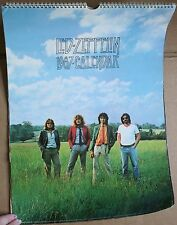 """1987 Large 17 x 11"""" Led Zeppelin Wall Calendar Photos Swan Song Page Plant"""