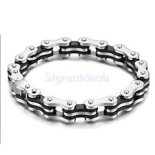 Punk Rock Men's Bike Bicycle Chain Bracelet Bangle with Present Gift Box Case