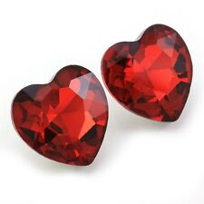 Cute Valentine's Day Be Mine Love Ruby Red Heart Post Studs Earrings Charm e1