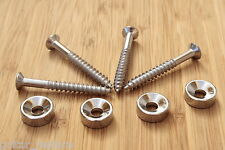 Neck  Mounting Ferrules Cromados Joint Bushings Bolts Guitarra Eléctrica