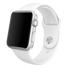 White 42mm Silicone Replacement Sport Band Bracelet Strap For Apple Watch iWatch