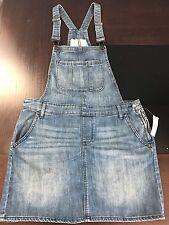 Gap Women's Denim Overall Dress Jumpsuit Mini Skirt Size XL New