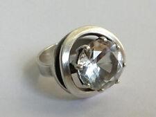 Vintage 60er 70er Silber 925  Ring Bergkristall CNP - Claus Klinkenheil Pforzhe