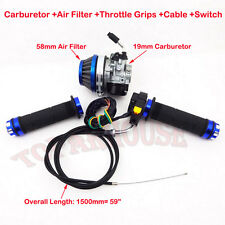 Racing Carburetor Air Filter Hand Grip Cable Switch 50 60 80cc Motorized Bicycle