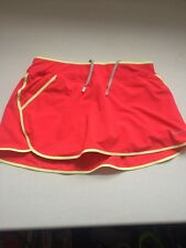 Nike tennis running skirt SKORT size M Medium Redish Pink Built In Shorts