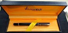 Vintage Waterman Fountain Pen/  Black with Gold Trim /Made in Paris France*