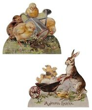 Bethany Lowe Easter Spring Bunnies Rabbit Chicks Dummy Board New x2