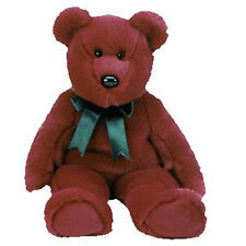 TY Beanie Buddy - CRANBERRY TEDDY (14 inch) - MWMT's - Stuffed Animal Toy