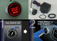 12V Engine Start Push Button Switch Ignition Starter Kit Red Led Fit All Cars