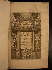 1676 Richard Hooker Laws of Ecclesiastical Polity Church of England Puritans