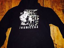 RARE WWE WWF JOHN CENA YOU CAN'T SEE ME HOODIE. SIZE XS Youth XL
