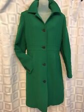 Vintage J.Crew Green Wool Blend Winter Trench Coat Thinsulate Insulation
