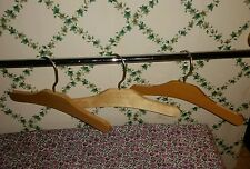"Set of 3 Vintage-Type-Plain Wood-Undecorated Childrens Baby Hangers 10"" Low-Ship"
