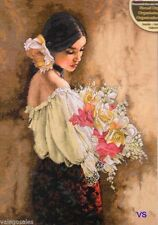 "Dimensions Gold Counted Cross Stitch kit 11""x15"" WOMAN WITH BOUQUET #70-35274"