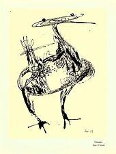 """Roel d'Haese. """"L'oiseau"""" Carte de voeux 1960 d'Emile Langui."""