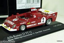 MINICHAMPS 1/43 - 400 751202 ALFA ROMEO 33 TT 12 WINNER SPA 1000KM 1975