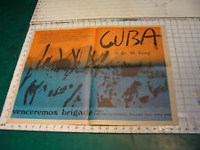 Students for a Democratic Society Newspaper FIRE vol 1 # 1 with CUBA POSTER 1969