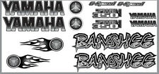 Banshee Decals Black Full Color Stickers Graphics 14pc ATV QUAD