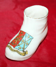 A & S Arcadian China - Crested Ware - Miniature Boot - Peterborough - vgc