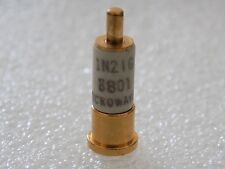 1x 1N21G Gold Slug Silicon Point Contact Mixer Diode, Microwave M/A Com,  DO-22