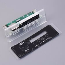5-12V Blue Light MP3 Decoder Board Time Display Support U-Disk TF Card FM