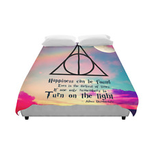 Harry Potter Happiness Can be Found Bedding Duvet Cover Quilt Cover 86 x 70 Inch