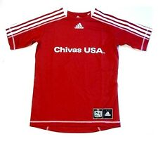 Chivas USA MLS Club Deportivo Adidas Soccer Jersey Red w/ White Shirt Youth M