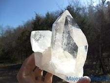 TOP CHOICE__HUGE HIGH END OPTICAL CLEAR DISPLAY__Arkansas Quartz Crystal Cluster