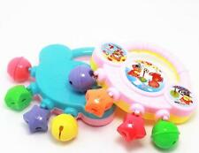 Baby Plastic Rattle Toy Handbell Musical Education Percussion Instrument FACA