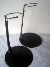 Doll Stands Two 2 Black Metal stands for 16 to 26 inch Dolls and teddy bears