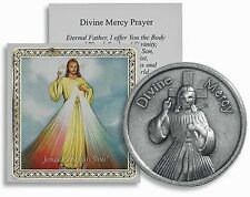 Divine Mercy Pocket Coin with Holy Card and Prayer NEW SKU TS032