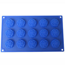 15 Rose Silicone Mold Cupcake Bakeware Tools DIY Chocolate Muffin jelly Mould
